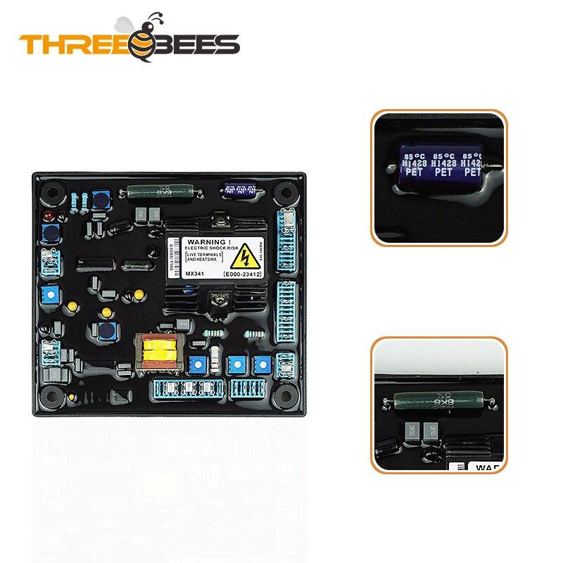 Аксессуары для дизельного генератора AVR MX341, плата регулятора напряжения, автоматический регулятор напряжения, регулятор напряжения