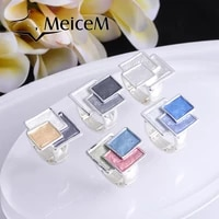 meicem 2021 new arrivals geometric rings for women fashion rings friends gift trendy enamel alloy metal fnger ring jewelry
