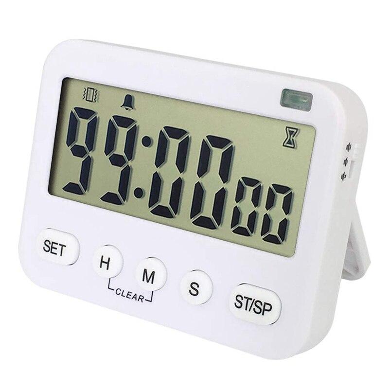 Temporizador de Cocina Digital magnético, temporizador de conteo de ciclos, pantalla grande, función de memoria, reloj con pantalla de 24 horas y alarma con Vib