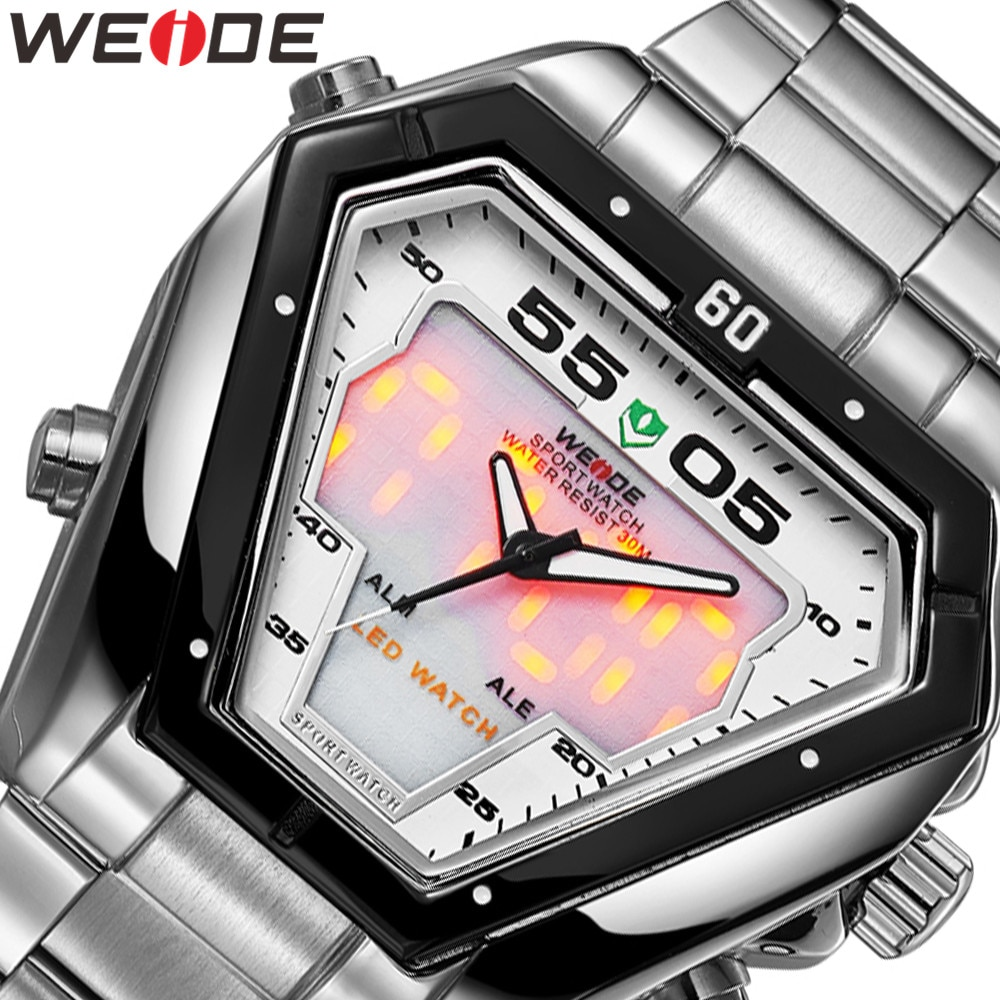 WEIDE Watch Military Analog Movement Men Top Luxury Brand Bussiness Quartz Waterproof Wristwatch Relogio Masculino Men's Watches weide men watches sports military strap white dial movement analog clock quartz wristwatches waterproof relogio masculino reloj