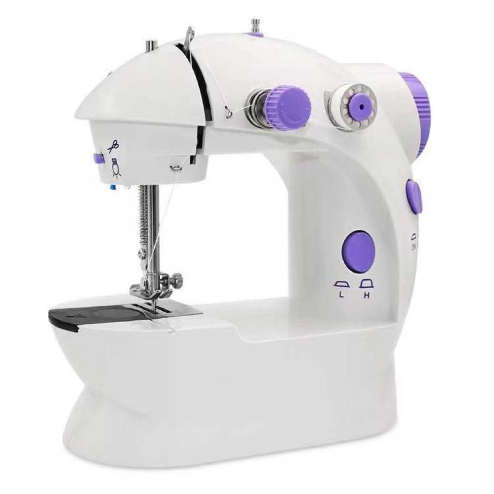 Para fabricación de máscaras, 202, Mini máquina de coser eléctrica portátil para el hogar, utensilios de máquina de coser con ajuste de 2 velocidades