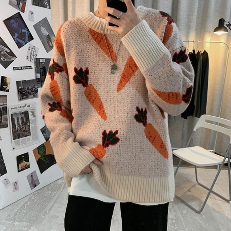 2020 autumn and winter Korean children's radish Pullover long sleeve sweater round neck men clothes New Free shipping white