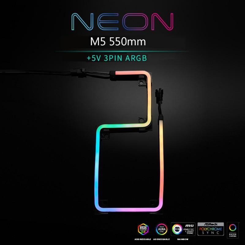 PHANTEKS شرائط مصباح 5V 3PIN A-RGB وحدة معالجة خارجية للحاسوب الديكور LED قطاع شكل DIY النيون M1 M5 طول 550 مللي متر 1000 مللي متر ضوء هالة