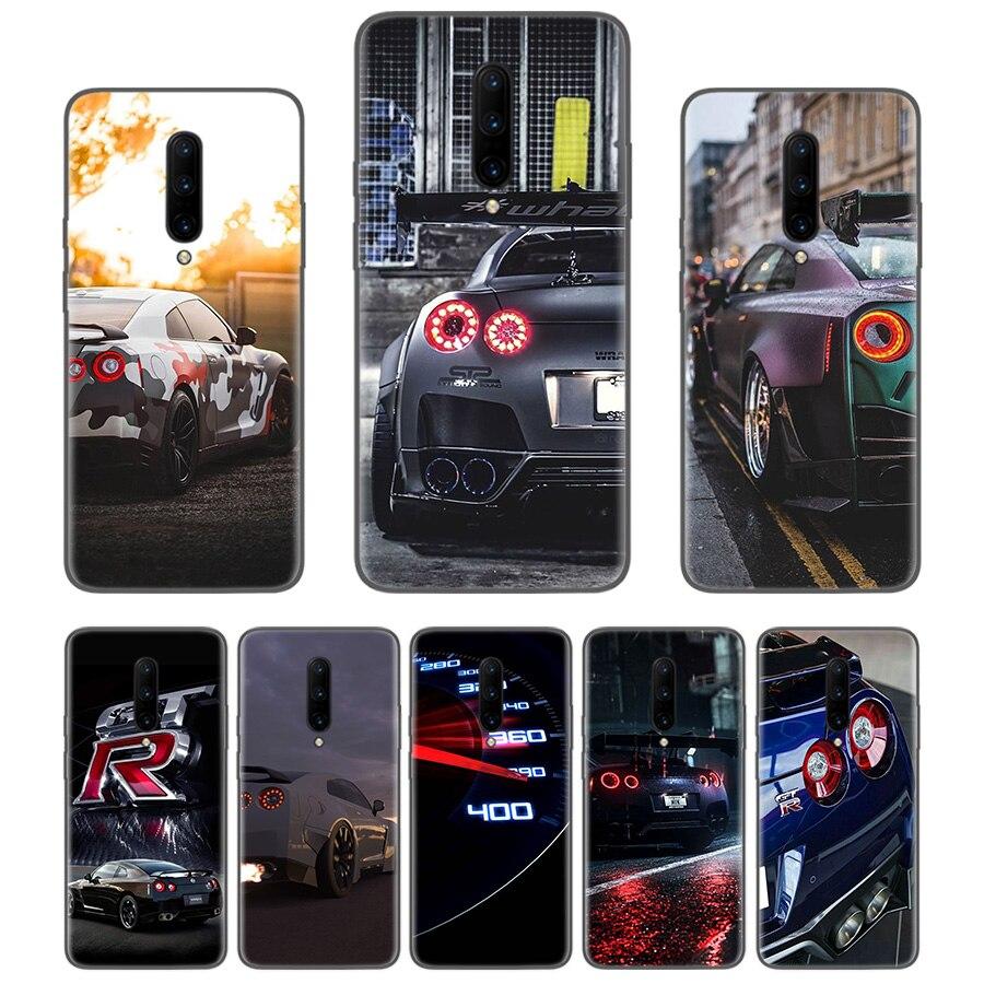 GTR coche fresco de Coque negro teléfono caso Oneplus 1 + 7 Pro 6 6T 5T 3 3T 7Pro arte regalo patrón personalizado cubierta de moda