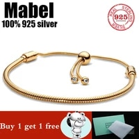 hot sale 100 real 925 sterling silver pando bracelet fit original love snake charms bangle diy high quality jewelry for women