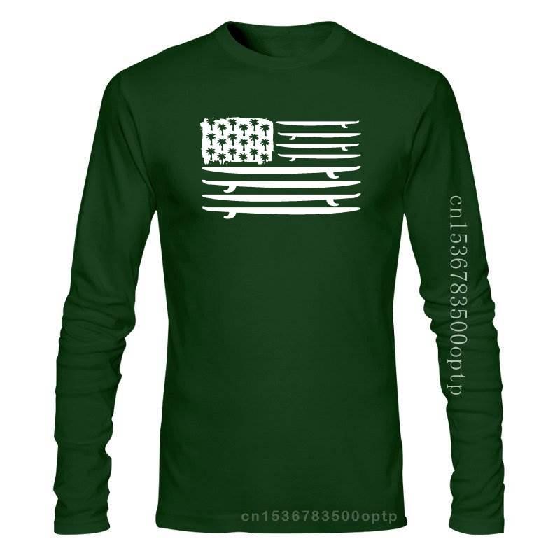 Americano nuevo Surf bandera camiseta Surf placa camiseta surfista Huntington Beach Teefashion...