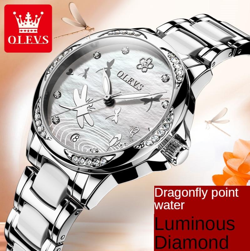 Women's Watch Women's Automatic Mechanical Watch Room Ceramic Steel Belt Waterproof Women's Watch Women enlarge