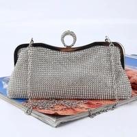 finger ring women diamonds clutch soft crystal wedding dinner party evening bags rhinestones handbags