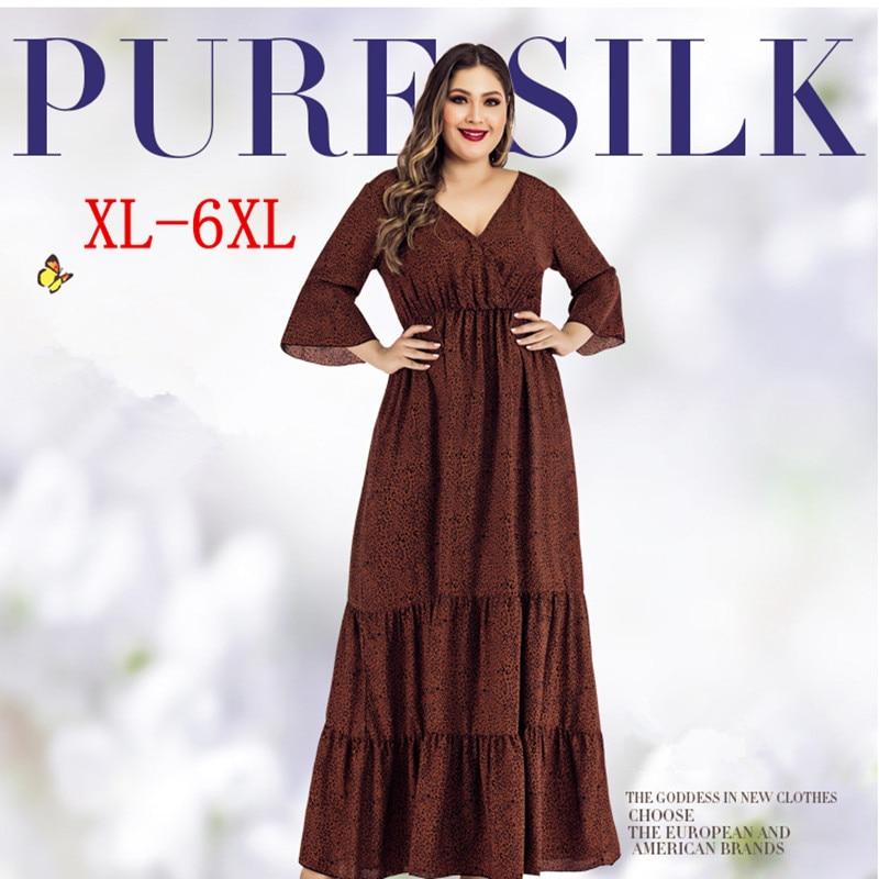 Plus Size Women 2021 Casual Dress Summer Sundress Cotton Female Lady Vestidos Loose Holiday Maxi Big 5XL 6XL