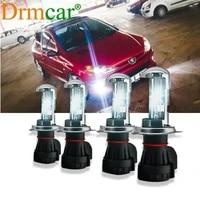 2pcs auto led lamp h4 9003 hb2 xenon kit 12v car headlights bulbs 55w hid lamps 6000k 4000lm lights hid light for car day light
