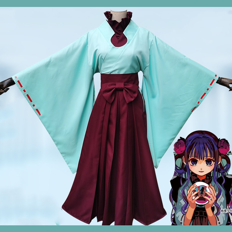 Anime Comic Toilet bound Hanako kun Cosplay disfraces Akane Aoi Cosplay disfraz Kimonos vestidos largos ropa trajes de bruja conjuntos