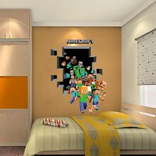Cartoon  Game Wall Stickers 3d vivid Mosaic game posters  decoracion hogar moderno  wall decor  room decoration