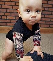 Боди с рукавами-тату