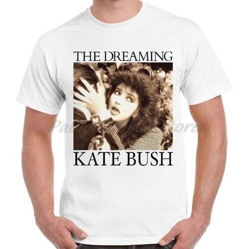 Kate arbusto Estilo Vintage ensueño sabuesos amor Kick interior Unisex Camiseta Hombre Blanco camiseta verano camiseta de talla grande 4XL 5XL