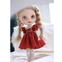 kawaii beautiful doll dress 16 bjd clothes for blytheyosd dollfashion doll clothes blythe dress outift for dolls accessories