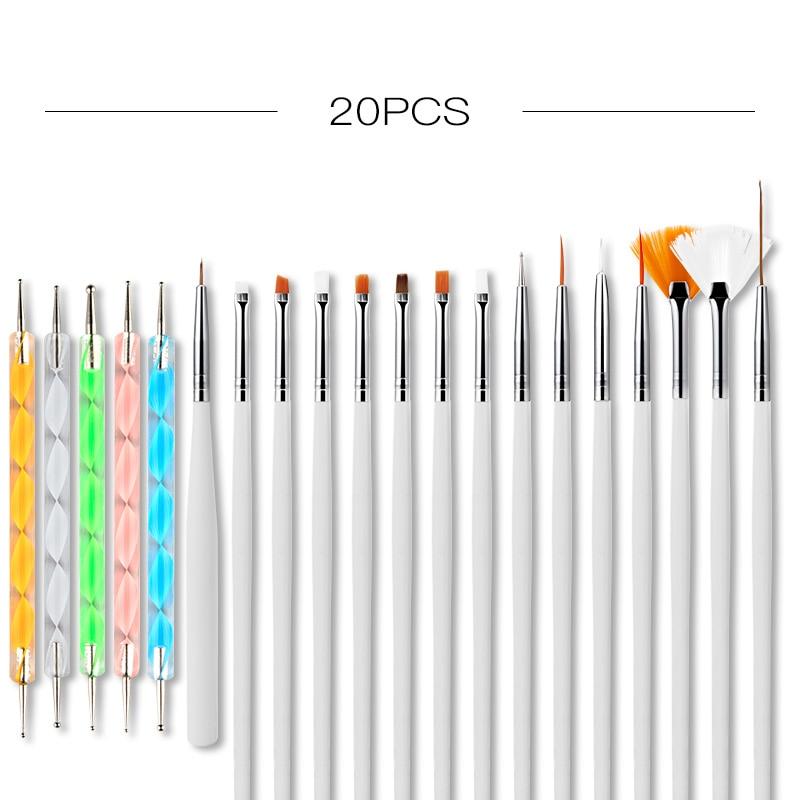 ROSALIND Nail Brush All For Manicure Brush Set Gel Nail Polish Painting Dotting Pen Gel Varnishes To