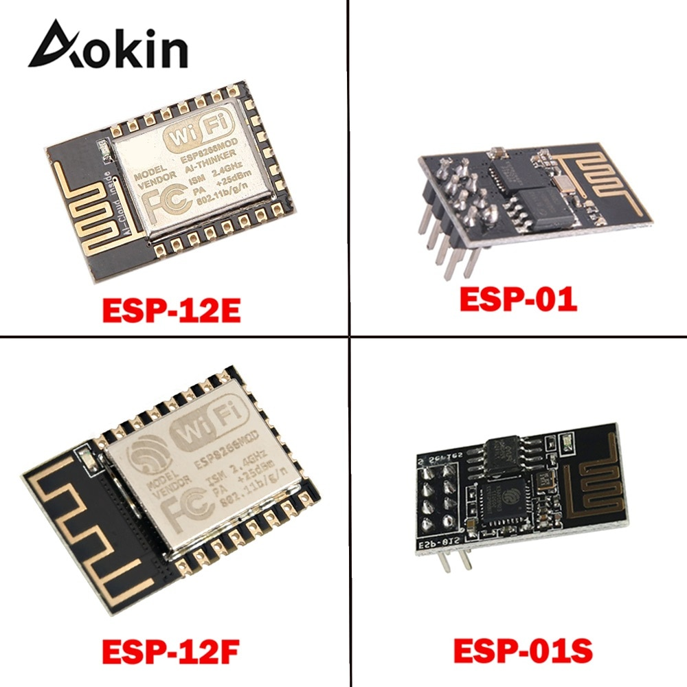 ESP8266 ESP01S ESP12E ESP12F ESP-12E ESP-01 ESP-01S ESP01 ESP-12F Remote Serial Port WIFI Wireless Module 3.3V SPI For Arduino недорого