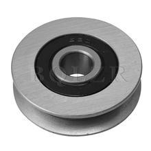 BQLZR U-شكل الحديد تحمل كابل بكرة لفتح باب المرآب 50 مللي متر التيتانيوم