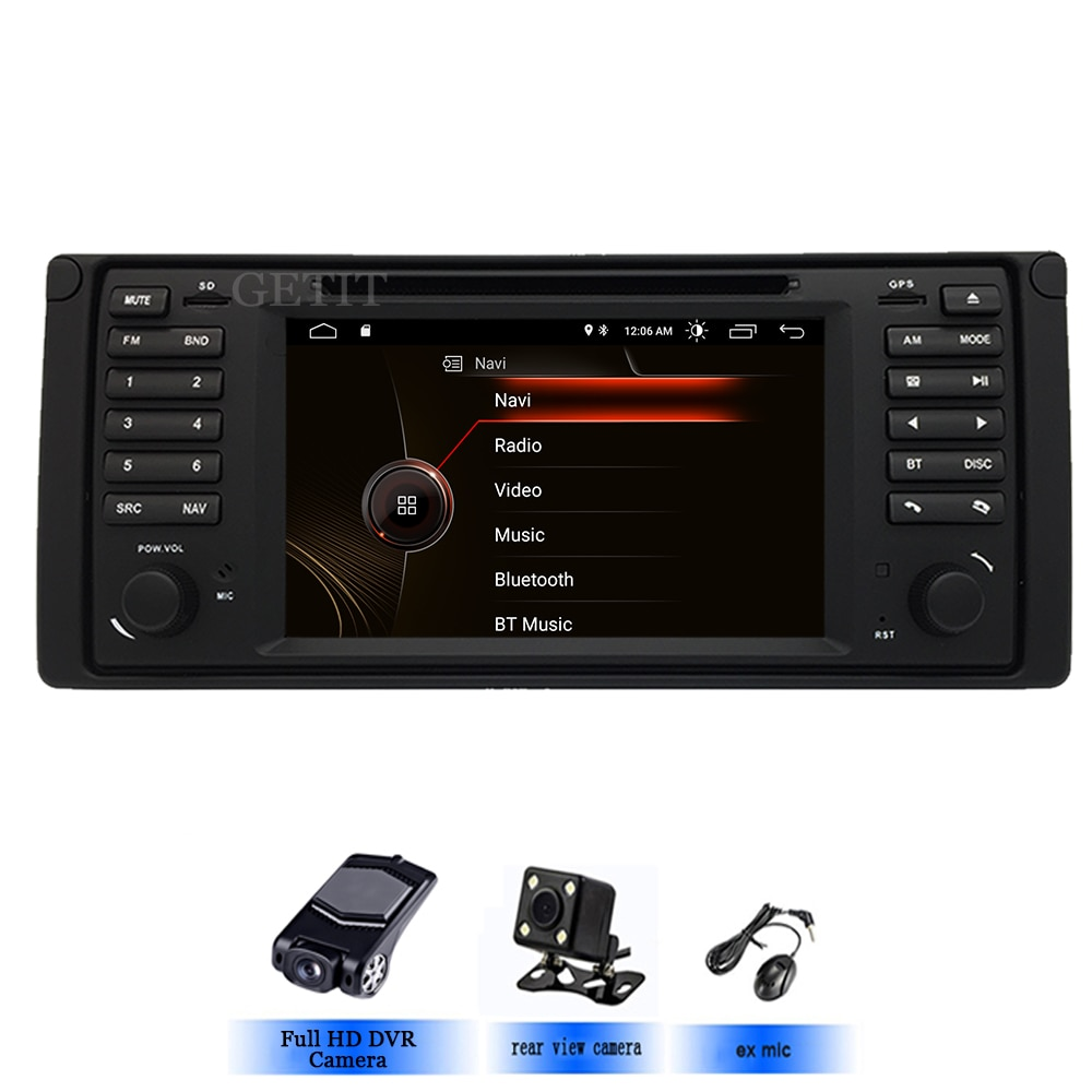 Reproductor de DVD para coche Original UI 1 din Android 10 para bmw E39 con GPS Bluetooth Radio volante control Mapa de cámara gratis