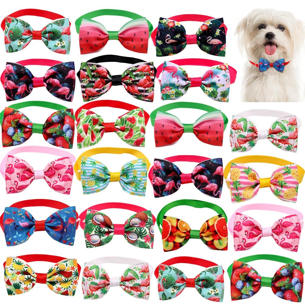 100pcs Small Dog Cat Accessories Pet Dog Bow Tie Collar Small Dog Cat Bowties Summer Pet Supplies Do