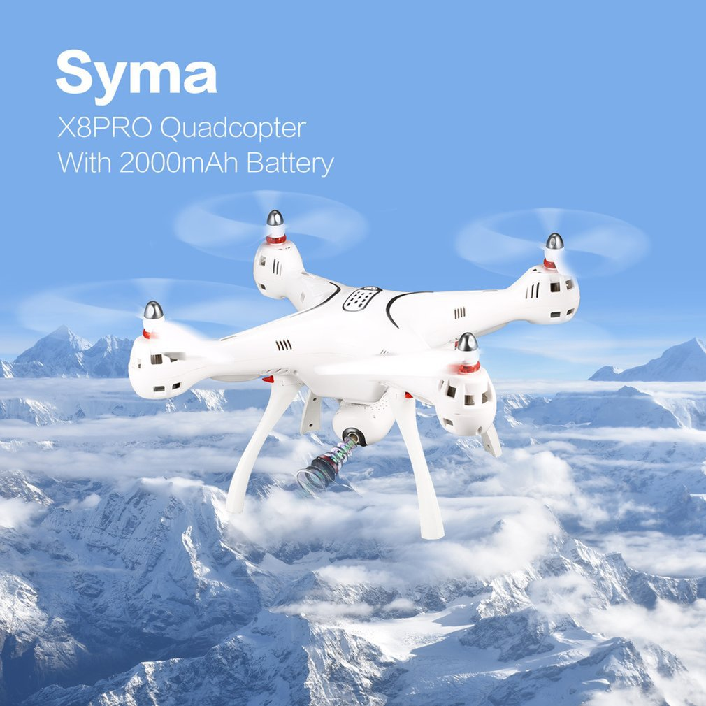 SYMA X8PRO GPS DRON WIFI FPV With 720P HD Camera Adjustable Camera drone 6Axis Altitude Hold x8 pro RC Quadcopter RTF enlarge