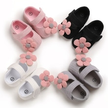 Baby Girl Shoes Lovely Flower Cotton Shoes Anti-Slip Kids Soft Sole Toddler Shoes Princess Shoes 0-1