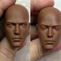 in stock 16 scale male figure accessory african monk head sculpt carved un painted model for 12 action figure body