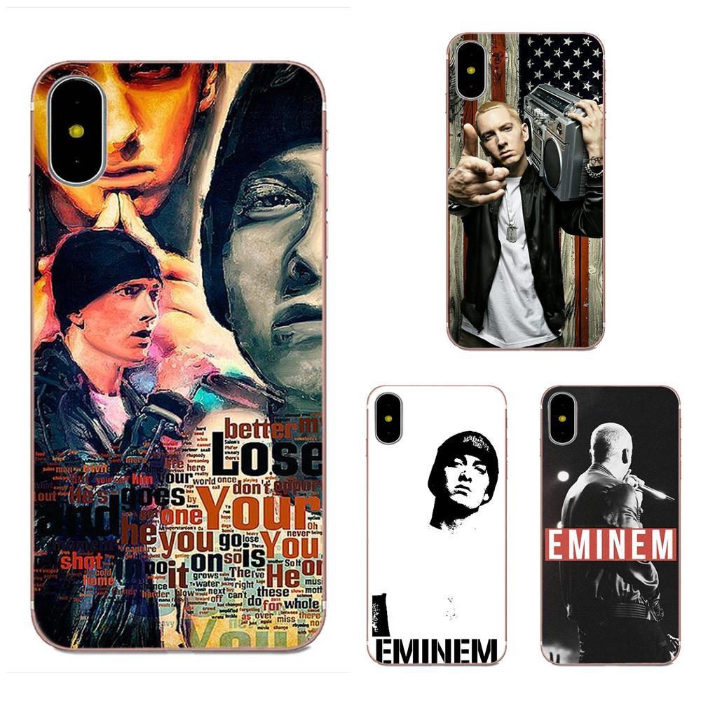 Para Huawei Honor Mate 7 7A 8 9 10 20 V8 V9 V10 V30 P40 G Lite jugar Mini Pro P inteligente suave cubierta de la Caja Hip Hop rapero Eminem Rap
