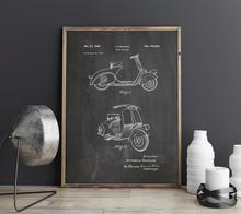 Vespa Scooter motosiklet patent, 1949 motosiklet sanat, duvar sanatı, poster, oda dekor, baskı, blueprint, duvar süsleri