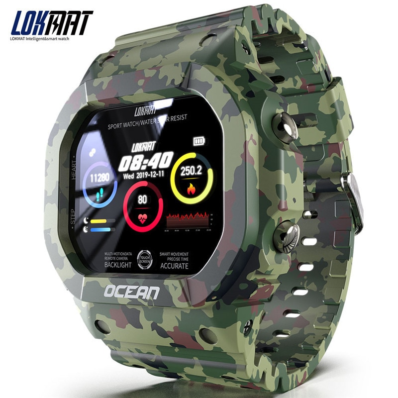 New product smart watch, heart rate meter, pedometer, blood pressure, health and waterproof, student casual fashion watch