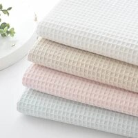 50cm x112cm soft waffle fabric5 color seriesdiy quiltingsewing sleepwearbathrobespillowcasecushion material for baby chil