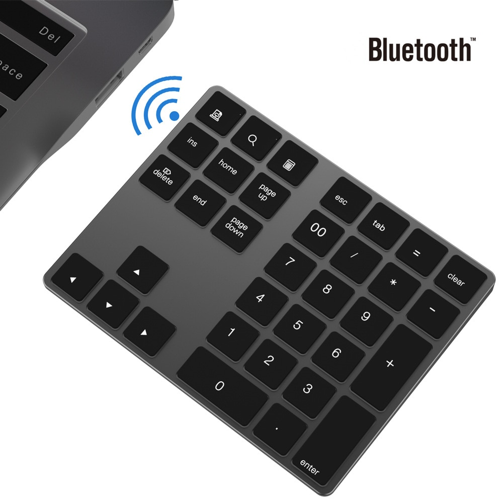 BT 3.0 لوحة رقمية لاسلكية 34 مفاتيح لوحة المفاتيح الرقمية للمحاسبة الصراف ويندوز IOS ماك OS أندرويد الكمبيوتر اللوحي المحمول