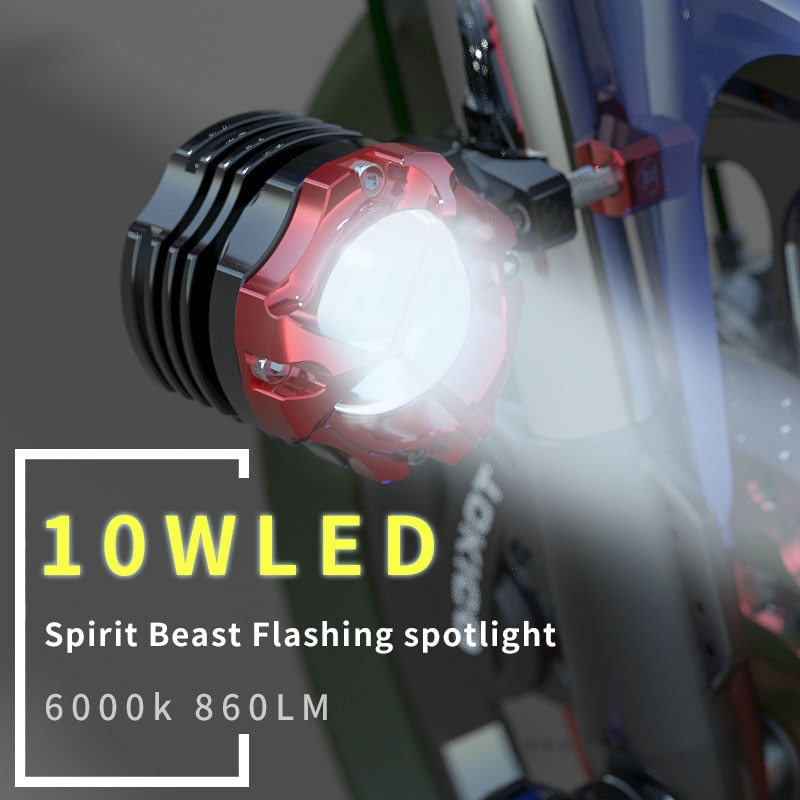 Espírito besta 10 w motocicleta led spotlight nevoeiro lâmpada luzes para kawasaki suzuki harley honda yamaha bmw triumph benelli ktm jawa