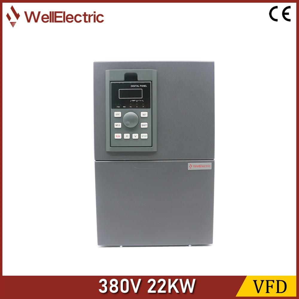 VFD العاكس 22KW 380 فولت فولت/F التحكم عن سرعة المحرك عاكس لتردد التحكم 22KW
