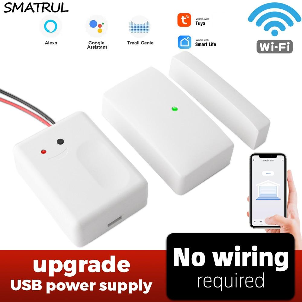 SMATRUL-مفتاح wi-fi ذكي لباب المرآب ، جهاز تحكم عن بعد Usb ، مزود طاقة ، تطبيق Alexa Echo ، Google Home