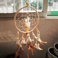 1set diy crochet feather dream catcher kit wind chime hanging decoration craft wall ornament dreamcatcher accessories home decor