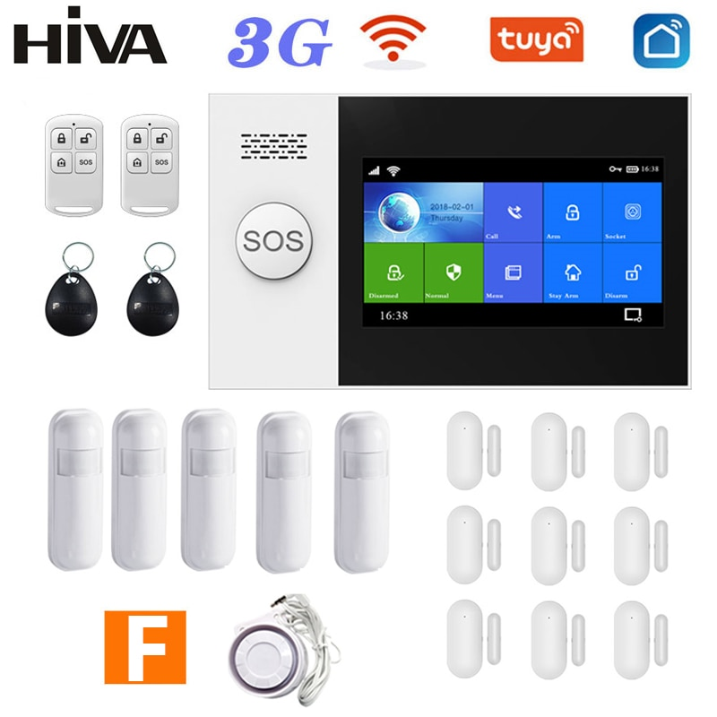 Система домашней сигнализации Tuya Smart Life, PG-107, 3G, GSM, Wi-Fi, 433 МГц, комплект беспроводной охранной сигнализации с поддержкой Alexa и Google Assistant