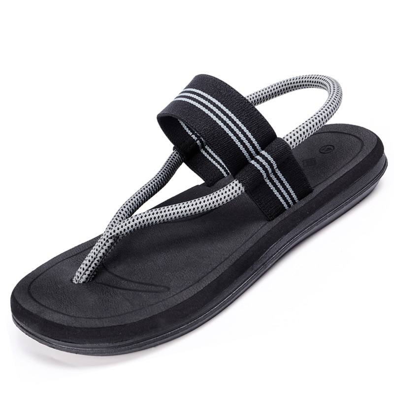 2020 New Summer Beach Shoes Men Sandals Roma Leisure Breathable Clip Toe Dual-purpose Sandal Male Soft Shoes 36-45