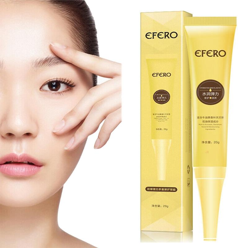 1 Uds eliminar los ojos bolsas crema hidratante antiarrugas eliminación de las ojeras cuidado de la piel ojos crema de colágeno esencia reafirmante