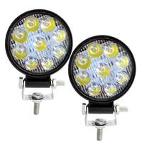safego 2pcs 27w round square led work light spot beam lamp mini work bar for offroad atv uaz suv 4x4 truck tractor boat 12v 24v