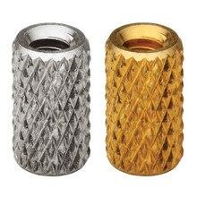 Écrou à mèche en laiton moulé   En laiton, écrou fileté, Insertos, Rivet en cuivre moleté, riveau Ecrou Inserti PEM Standard