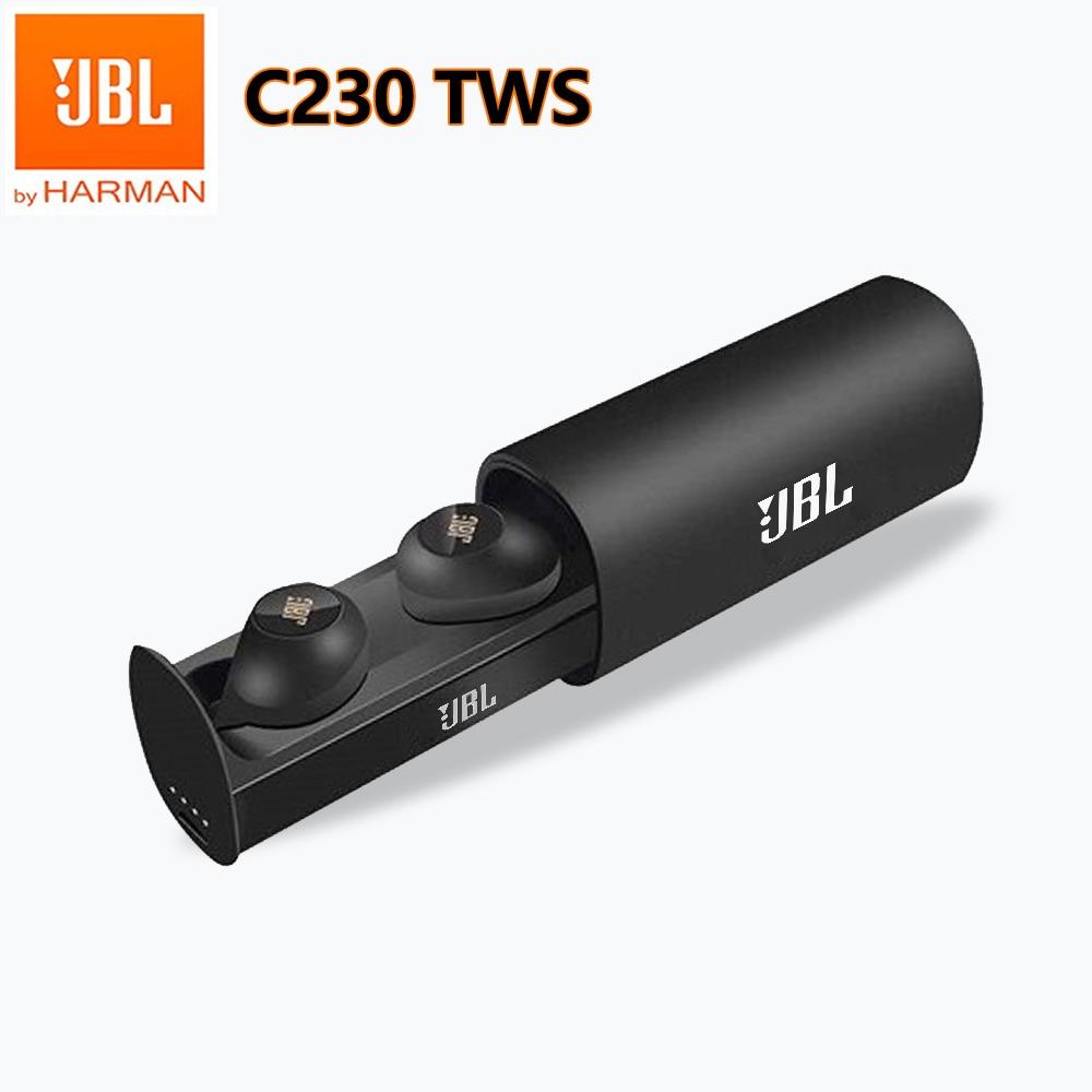 JBL C230TWS True Wireless Bluetooth Headphone C230 Original In-Ear Stereo Headsets with Mic Subwoofe