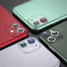1pcs Camera Protection Cover For iPhone 11/11Pro/11Pro Max 2021 Metal ring Rear Phone Lens Protector
