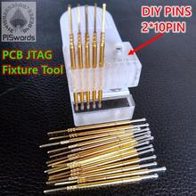 2,54mm DIY 2*10pins Zweireihig JTAG Pin Test leuchte Jigs Für Programm Flash Brennen Chip Simulation download Demo Bord Werkzeug