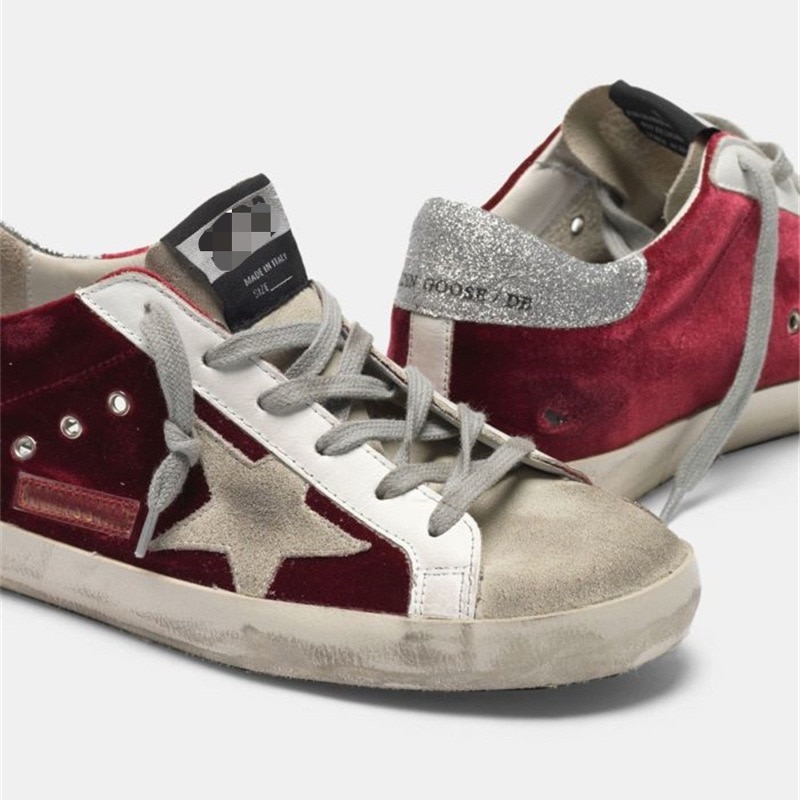 2021 Spring and Summer New Wine Red Velvet Old Dirty Shoes Boys and Girls Casual Fashion Parent-child Shoes QZ17 enlarge