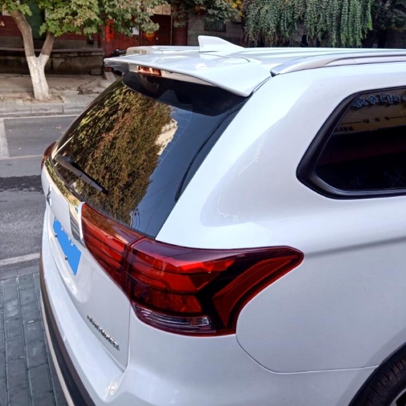 Para Mitsubishi Outlander 2013-2016 ABS plástico sin pintar Exterior alerón trasero maletero arranque ala decoración coche estilo