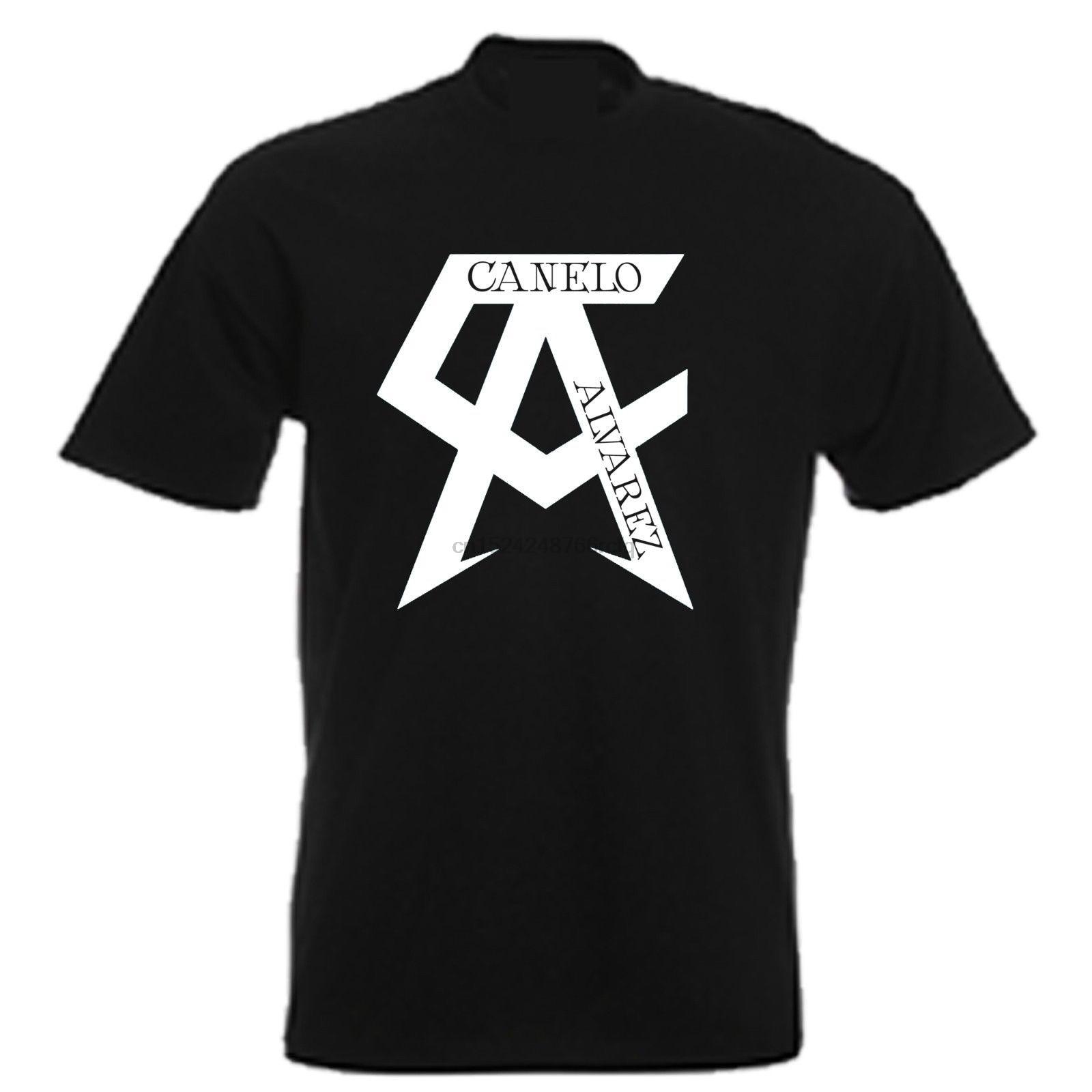 2018 verano camiseta CANELO ALVAREZ ICONIC BOXING Camiseta cuello redondo Camiseta de talla grande