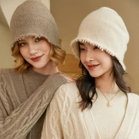 autumn and winter 100 cashmere hat womens fashion fisherman hat