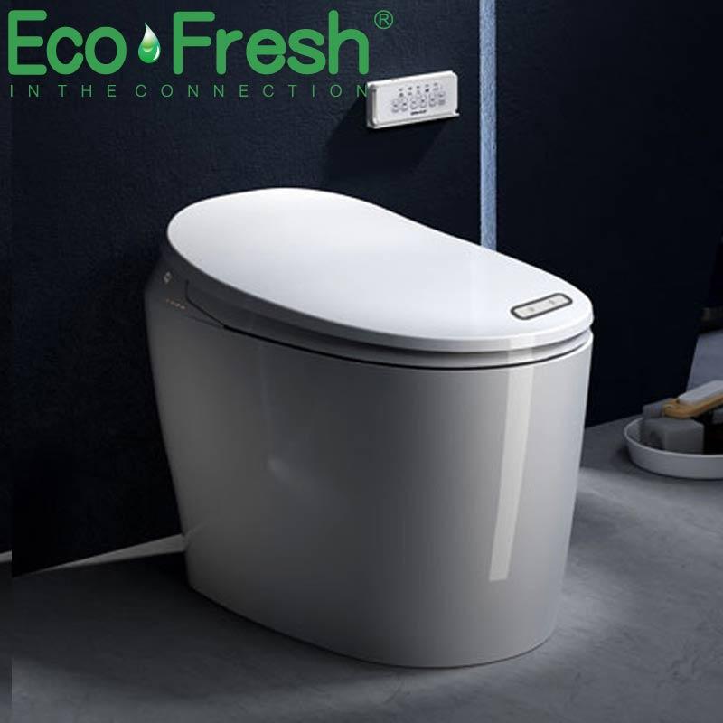 Ecofresh الحمام tankless الكهربائية التلقائي الذكي المرحاض مع جهاز التحكم عن بعد الذكية WC الذكية بيديت قطعة واحدة المرحاض