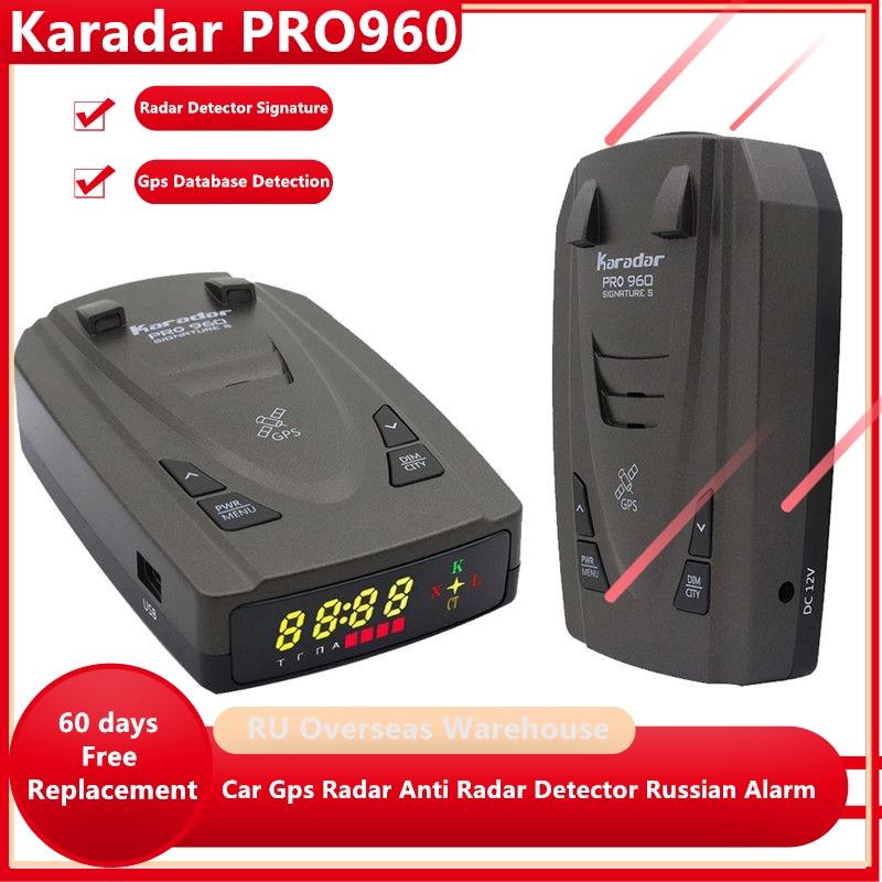 Антирадар Karadar Pro960 2 в 1, автомобильный GPS-детектор, радар-детектор с режимом подписи K CT X, лазерные радары s для России и G-820str